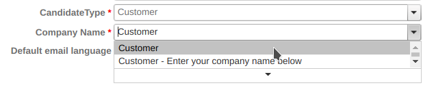 "Company Name ""Customer"""