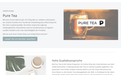 Curtain up for our client: Pure Tea