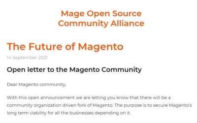The Magento Open Source Community Alliance
